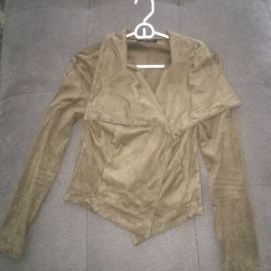 Army Green suede Jacket